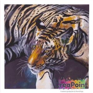 Crystal Art kit Tiger 70 x 70 cm