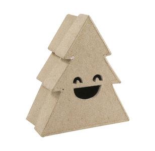 Opberger doos Kerstboom S lachend gezicht