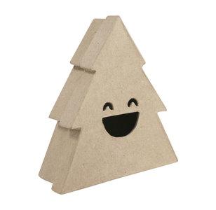 Opberger doos Kerstboom M lachend gezicht
