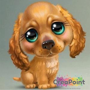 Full 5D Diamond Painting Puppy hond 6 Cocker Spaniel 20 x 20 cm