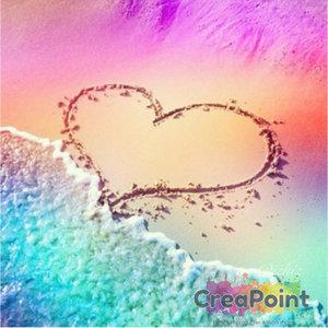 Full 5D Diamond Painting Love Beach 30 x 30 cm