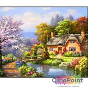 Full 5D Diamond Painting huis cottage met tuin 1 50 x 40 cm