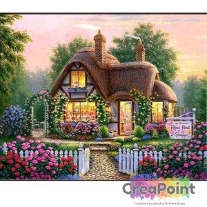 Full 5D Diamond Painting Huis Cottage met Tuin 2 45 x 60 cm