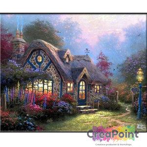 Full 5D Diamond Painting Huis Cottage met Tuin 5 45 x 60 cm