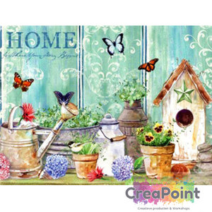 Full 5D Diamond Painting Birdhouse 50 x 40 cm