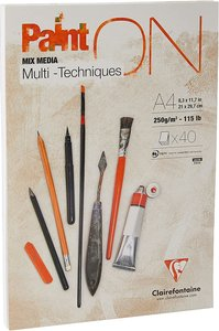 PaintOn blok 40 blad 250g A4 (21x29,7cm) - Wit