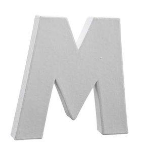 Letter wit M 12 cm