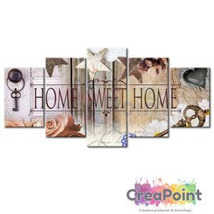 Full 5D Diamond Painting 5 luik home sweet home