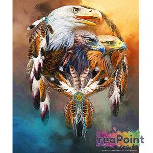 Full 5D Diamond Painting Dromenvanger Roofvogels 40 x 50 cm