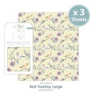 Decoupage papier Bird treetop Large - Craft Consortium