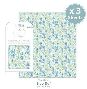 Decoupage papier Blue Daf - Craft Consortium