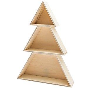 Kerstboom hout 3 delig