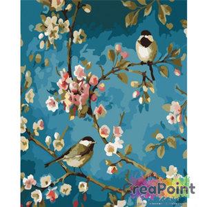 Schilderen op nummer bloementak 1 40 x 50 cm zonder frame