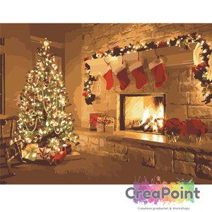 Schilderen op nummer Kerstmis 50 x 40 cm zonder frame