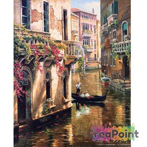 Schilderen op nummer Venetië Gondel 50 x 40 cm zonder frame