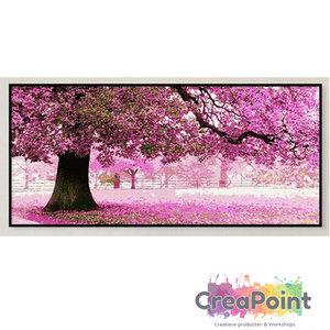 XL Schilderen op nummer Boom in bloei 50 x 100 cm zonder frame